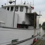 Traktor Lasses nya båt.