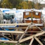 Träbåtar och trävirke