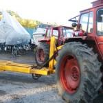 En av traktorerna