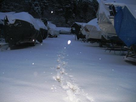 Få besökare sedan snön föll