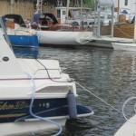 Näst sista sjösättningsdagen och det var trängt i hamnen idag.